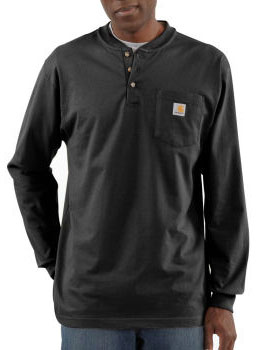 Carhartt: Men's Long Sleeve Workwear Henley K128