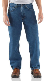 Carhartt: Men's Relaxed Fit Jean - Straight Leg/Flannel B172