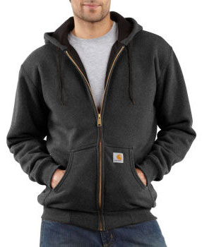 Carhartt: Men's Thermal-Lined Hooded Zip-Front Sweatshirt J149