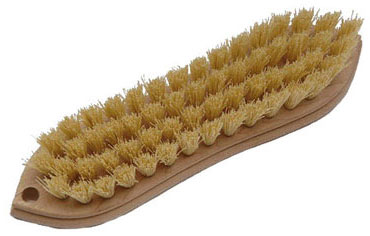 Laitner Wood block pointed end w/polypropylene bristles