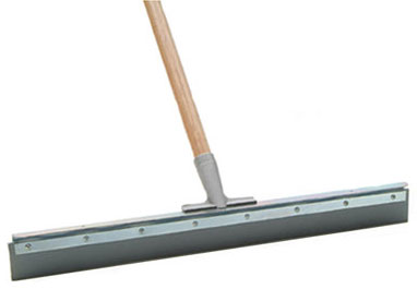 "Laitner Straight Floor Squeegee with 1-1/8""x54"" Tapered Wooden Handle"