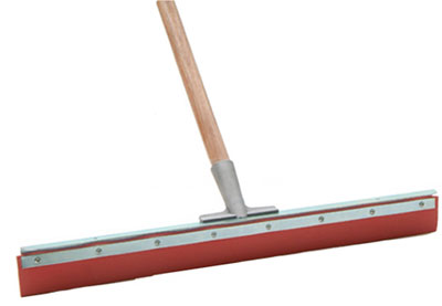 "Laitner Acid Resistant Straight Floor Squeegee with 1-1/8""x54"" Tapered Wooden Handle"