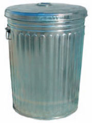 Magnolia Pre-Galvanized Trash Can With Lid