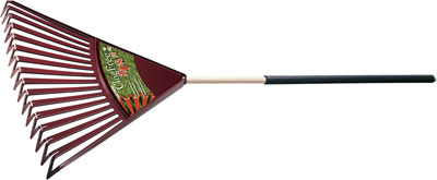 True Temper ClogFree 30-in Poly Leaf Rake with Cushion Grip