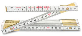 "Lufkin Red End 2m (6') x 5/8"" Metric and English Wood Rule"