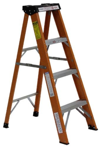 Michigan Ladder Heavy Duty Industrial Fiberglass Step Ladder