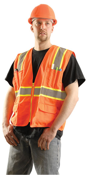 Occunomix Hi-Viz Orange Class 2 Surveyors Vest