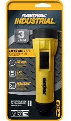 Rayovac 2D 3 LED Industrial Flashlight with Batteries, I2DLED