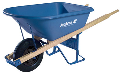 Jackson 5.75 cubic foot Jackson Poly Contractor Wheelbarrow with Flat Free Tire