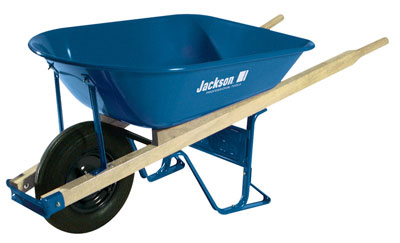 Jackson 5 cubic foot Steel Contractor Wheelbarrow with Ball Bearings