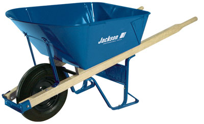Jackson 6 cubic foot Steel Contractor Wheelbarrow with Folded Tray