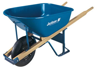 Jackson 6 cubic foot Steel Contractor Wheelbarrow