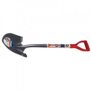 True Temper 1564400 True American Round Point Shovel with Poly D-grip