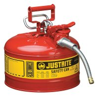 Justrite Accuflow Safety Can Type II Steel 2-1/2gal Red