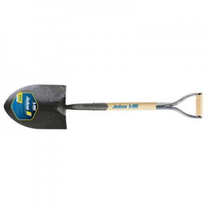 Jackson J-450 Pony Round Point Shovel with Solid Shank, No-step, and Armor D-grip