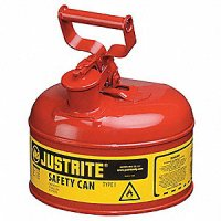 Justrite Safety Can Type I Steel 1 Gallon Red