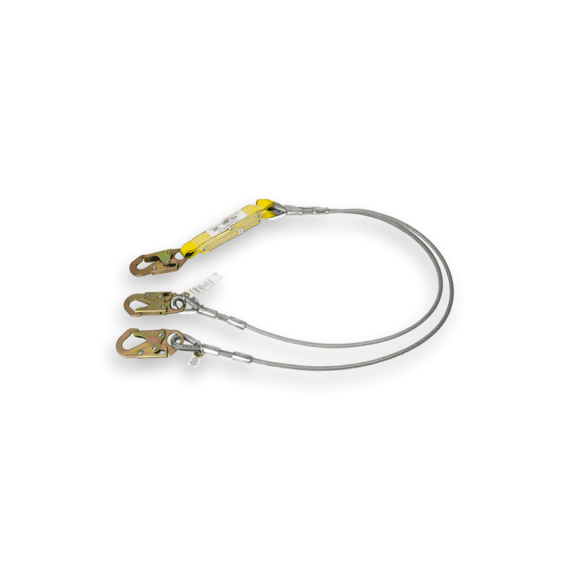 Guardian Cable Lanyard Double Leg