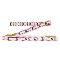 Lufkin Folding Wood Rule 6ft. Engineers Scale Red End