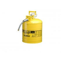 Justrite Safety Can Type II Steel 5 Gallon Yellow